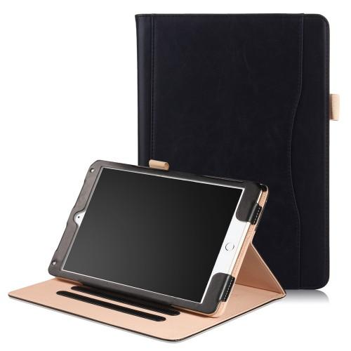 iPad 10.2 (2019) / iPad Air 3 10.5 (2019) / iPad Pro 10.5 (2017) leren case / hoes zwart incl. standaard met 3 standen