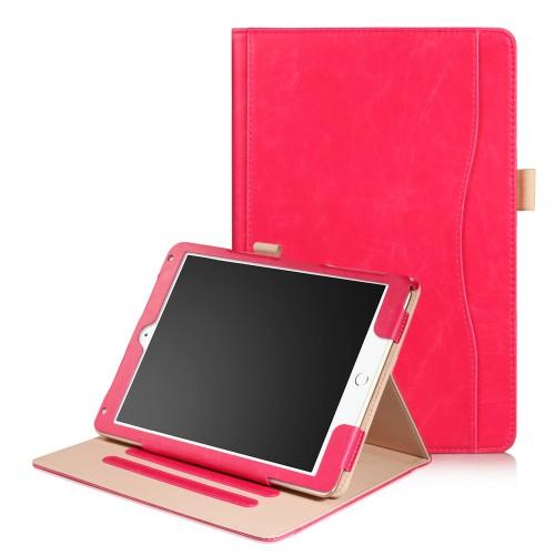 iPad Air 1 / Air 2 / 9.7 (2017) / 9.7 (2018) leren case / hoes roze incl. standaard met 3 standen