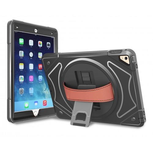 360 graden draaibare, rugged, hybride, iPad 9.7 (2017) / iPad Air / iPad Air 2 / iPad Pro 9.7 case zonder screenprotector