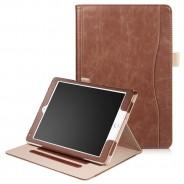 iPad Air 1 / Air 2 / 9.7 (2017) / 9.7 (2018) leren case / hoes bruin incl. standaard met 3 standen