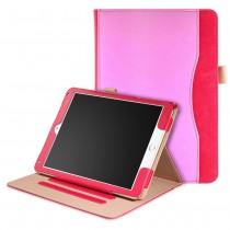 iPad 10.2 (2019 / 2020) / Air 3 10.5 (2019) / Pro 10.5 (2017) leren hoes - incl. standaard met 3 standen - Roze Rood