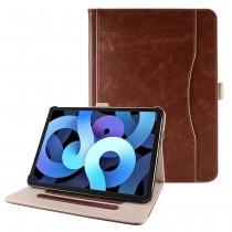 iPad Air 4 10.9 (2020) leren hoes bruin incl. standaard met 3 standen