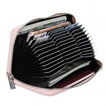 Dasaja RFID portemonnee met 36 kaarthouders roze