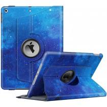 Dasaja -  iPad 10.2 inch (2019 / 2020) stevige hoes - 360 graden draaibaar – met ingebouwde pen houder - Galaxy Blauw