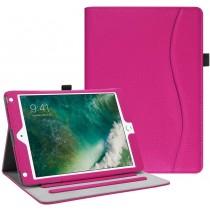 Dasaja -  iPad 10.2 inch (2019 / 2020) stevige hoes - met opbergruimte – 3 standen - met pencil houder – Roze