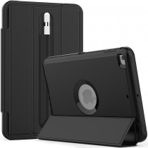 iPad mini 4 / 5 schokbestendige case met screenprotector en Trifold standaard zwart