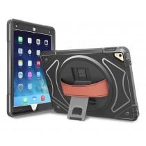 360 graden draaibare, rugged, hybride, iPad 9.7 (2017) / iPad Air / iPad Air 2 / iPad Pro 9.7 case met screenprotector