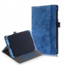 Samsung Galaxy Tab A 10.1 (2019) stoffen hoes / case jeans blauw met 3 standen