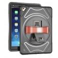 360 graden draaibare, rugged, iPad 10.2 (2019) case met screenprotector zwart
